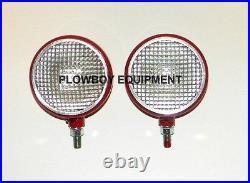 12 Volt HEADLIGHT Pair for FARMALL CUB A B C H M SUPER 140 TD14A TD18A Set Of 2