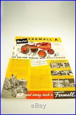 1939 IH FARMALL A INTERNATIONAL HARVESTER TRACTOR SALES BROCHURE McCormick
