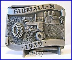 1939 IH International Harvester Farmall M Tractor Belt Buckle LtEd Rock Island