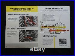 1955 INTERNATIONAL HARVESTER McCORMICK B-275 DIESEL TRACTOR BROCHURE NICE SHAPE