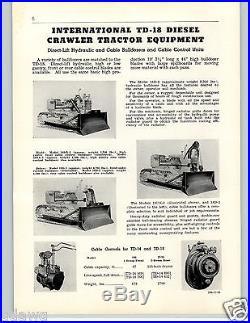 1956 PAPER AD 6 PG International Harvester Diesel Crawler Tractor Bulldozer IH