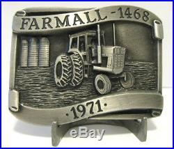 1971 IH International Harvester Farmall 1468 Tractor Belt Buckle LE Rock Island