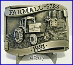 1981 IH International Harvester Farmall 5288 Tractor Belt Buckle LE Rock Island