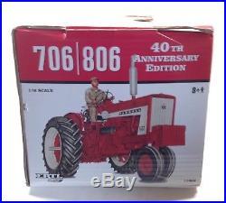 1/16 IH International Harvester 706 & 806 Tractor Set 40th Ann. New by ERTL Nice