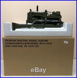 1/16 IH International TD-14 M-3 Diesel Crawler Dozer Tractor Army Green SpecCast