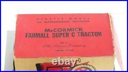 1/16 LAKONE Plastic McCormick Farmall Super C Toy Tractor With Box