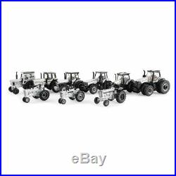 1/64 International Harvester 9 Piece Tractor Silver Chase Unit Set, 44226-Silver