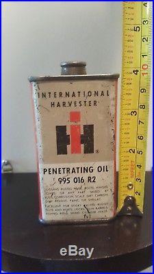 #2 Vintage Rare 1940-50 International Harvester Oil Tin Can Handy Oiler Tractor