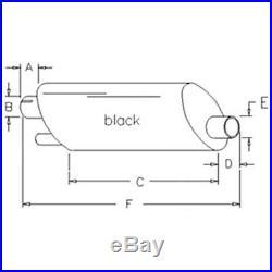 A162464 Black Muffler for Case IH International Harvester Tractor 4490 4690 4694