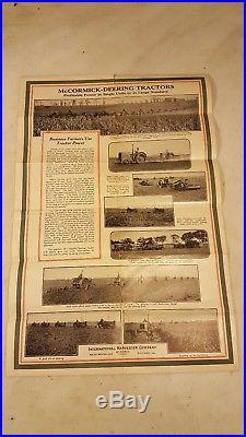 Antique 1930 McCormick-Deering Tractor International Harvester Advertising