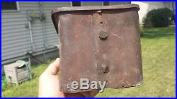 Antique McCormick Deering Implement Tractor Tool Box with Lid Metal and Wood IH