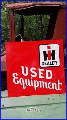 Big 2 sided International Harvester Sign Tractor Farm Seed Feed Gas & Oil Barn