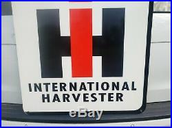 Big Dealer Internatonal Harvester IH Double Sided Sign Barn Gas Oil Farm Tractor