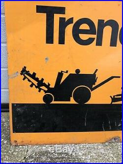 Case Trenchers Sign IH International Tractor Sign Rare Vintage Original Sign