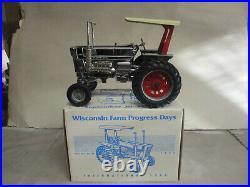 Custom Silver Chrome IH Model 1568 Toy Tractor 94 WI Farm Progress 1/16 Scale