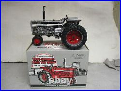 Custom Silver Chrome IH Model 856 Toy Tractor 1996 Summer Toy Show 1/16 Scale