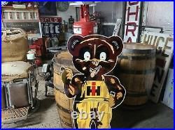 Die Cut Internatonal Harvester Cub IH Sign Gas Oil Farm Tractor Dealer