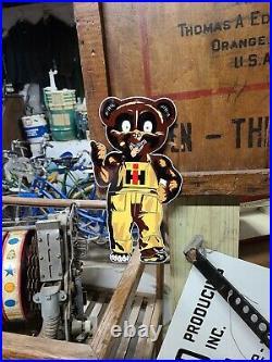 Die Cut Internatonal Harvester Cub Sign Barn Gas Oil Tractor Seed Feed