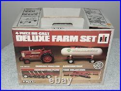 Ertl 1/16 Ih International Farmall 350 Tractor Deluxe 4 Piece Farm Set Nib