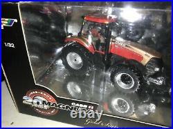 Ertl 1/32 Case Ih Magnum 305 Steiger 535 4wd Gold Signature Edition Tractor Set
