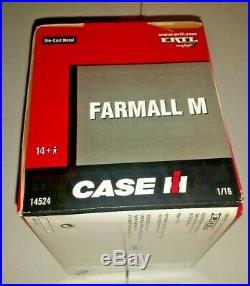Ertl Farmall M 1/16 diecast metal farm tractor replica collectible 14524