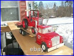 Ertl International Custom Flatbed With International 886 Tractor/Disk Harrow