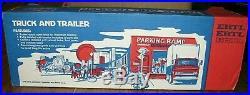 Ertl International Harvester STEEL Semi Tractor Truck & Trailer Blue #3828 19.5