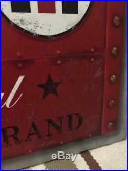FARMALL International Harvester Embossed Metal Sign Agriculture Farming Tractor