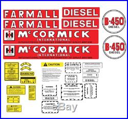 FARMALL McCORMICK INTERNATIONAL B450 TRACTOR DECAL SET