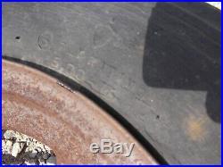 Farmall F20 Tractor front F&H round spoke rim cap & 5.00 x 16 Firestone tire