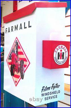 Farmall Ih Patriotic Background Tractor Nostalgic 50s Era Towel Box Dispenser