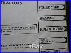 Genuine 1953 International Harvester Farmall M & MD Tractor Parts Catalog Manual