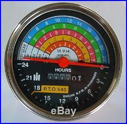 IH International Farmall 560 660 Tractor Tachometer Tractormeter Gauge 383093R91
