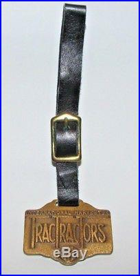 IH International Harvester Co Trac Tractor Brass Pocket Watch Fob San Francisco