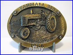 IH International Harvester Farmall 350 Tractor Bronze Belt Buckle Limited Ed 264