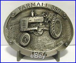 IH International Harvester Farmall 350 Tractor Pewter Belt Buckle Limited Ed 335
