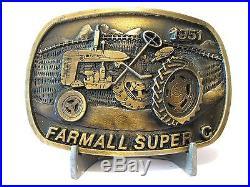 IH International Harvester Farmall Super C Tractor Bronze Belt Buckle Ltd Ed 003