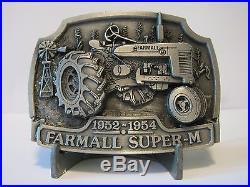 IH International Harvester Farmall Super M Tractor Belt Buckle Ltd Ed #182/1000