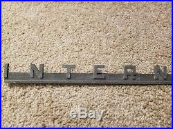 IH International Harvester Metal Emblem Sign Tractor Farm Equipment old 1950s