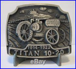 IH International Harvester TITAN 10-20 Kerosene Tractor Belt Buckle Limited Ed