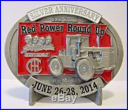 IH International IHCC 2014 Red Power Round UP 4568 Tractor Belt Buckle 25th Annv