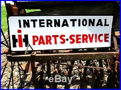IH Vintage Old Style INTERNATIONAL HARVESTER Tractor Parts Service SIGN PAINTED