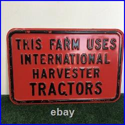 INTERNATIONAL HARVESTER SIGN TRACTOR FARM ADVERTISING METAL SIGN Vintage 18x12