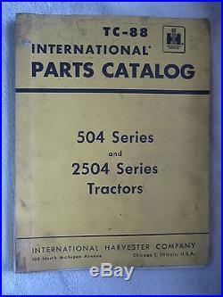 Ih International Harvester & Farmall 504 & 2504 Series Tractor Parts Catalog