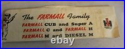 International Harvester Cub Tractor IHC Paper Hat Farmall Family Rare HTF Scarce