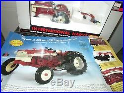 International Harvester Farmall 340 Gas Tractor with plow 116 specast hamilton