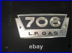 International Harvester Farmall 706 LP Gas Aluminum Side Emblem IH Tractor