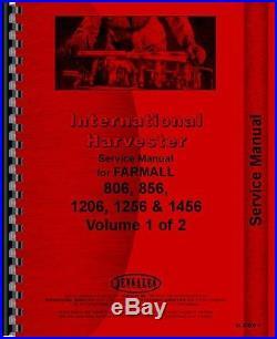 International Harvester Farmall 806 856 1206 Tractor Service Manual IH-S-806+