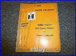International Harvester IH 500 Crawler Tractor & Equipment Parts Catalog Manual