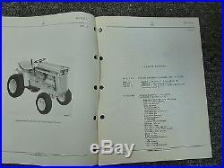 International Harvester IH Model 105 Cub Cadet Tractor Parts Catalog Manual Book
